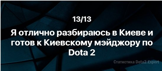 Тест Вконтакте о Дота 2 и Киев Мажор 2017