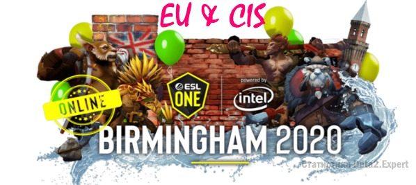 ESL Birmingham 2020 Online: EU & CIS — Расписание и турнирная таблица